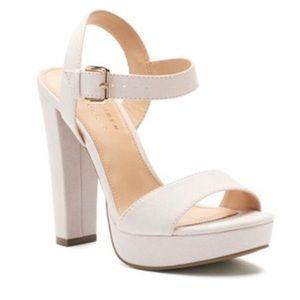 LC Lauren Conrad Bow Heeled Sandals Worn Once